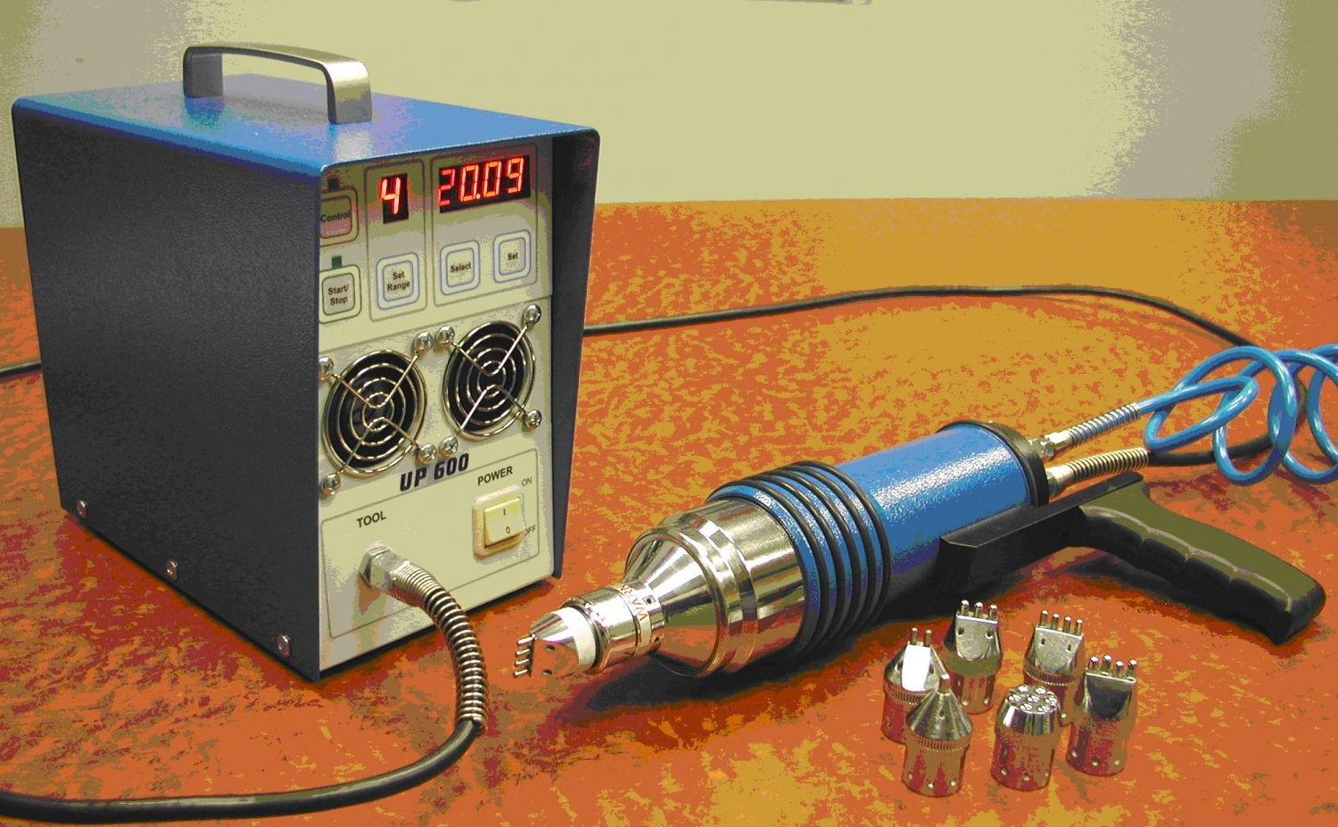 Basic ultrasonic peening system for fatigue life improvement of welded elements and structures